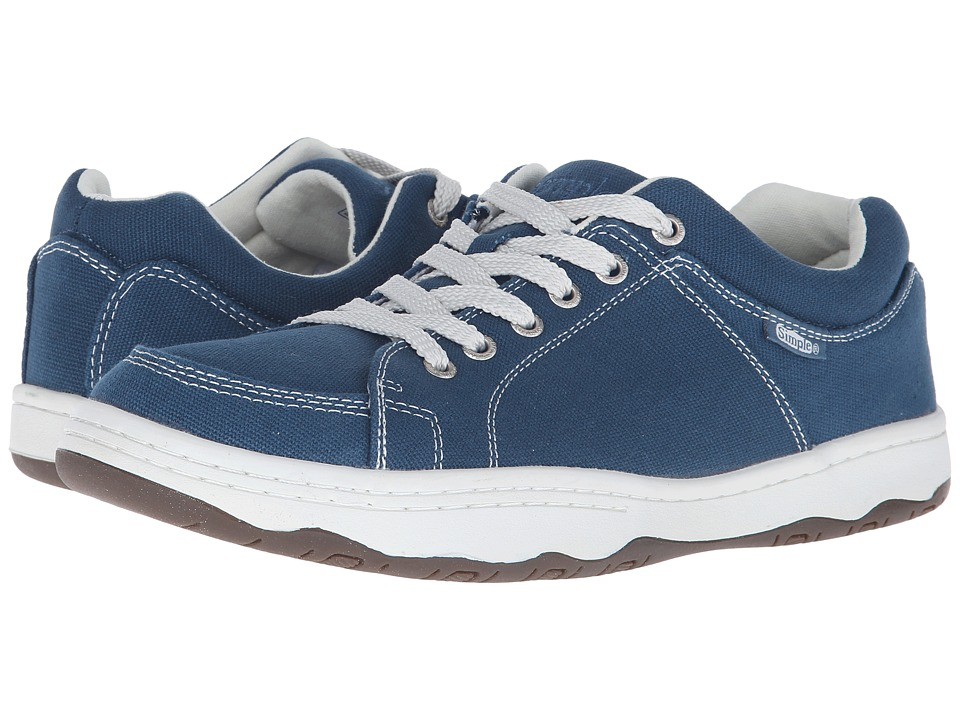 Simple - Pipeline (Steel Blue Canvas) Men's Shoes