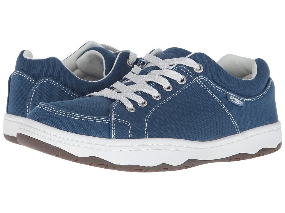 Simple - Pipeline (Steel Blue Canvas) Men's Shoes