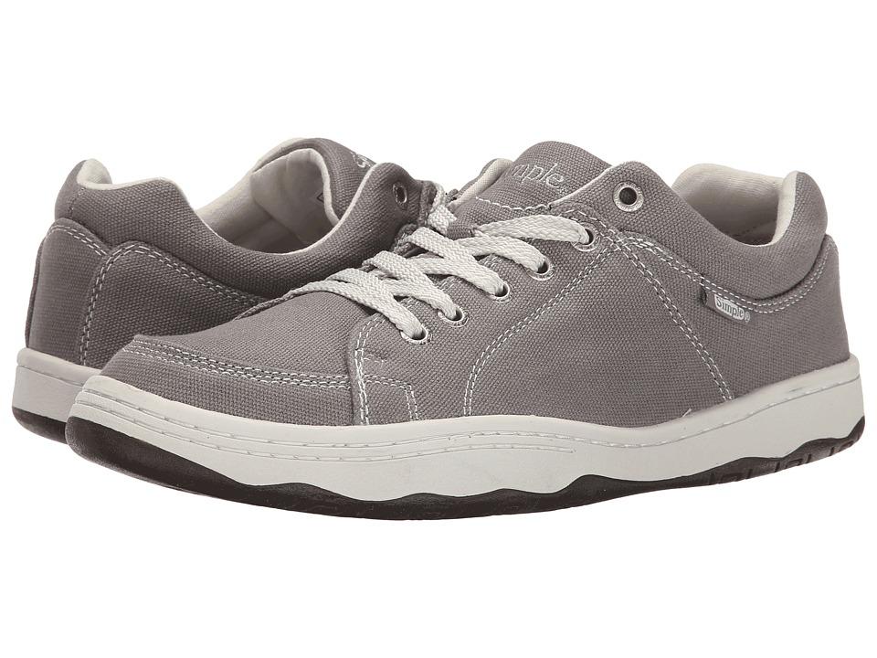 Simple - Pipeline (Stone Grey Canvas) Men's Shoes