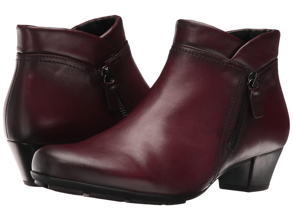Gabor - Gabor 55.634 (Wine Nappa) Women's Zip Boots