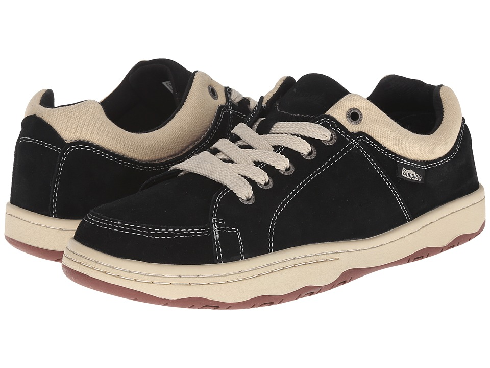 Simple - Pipeline 1 (Black Suede) Men's Shoes