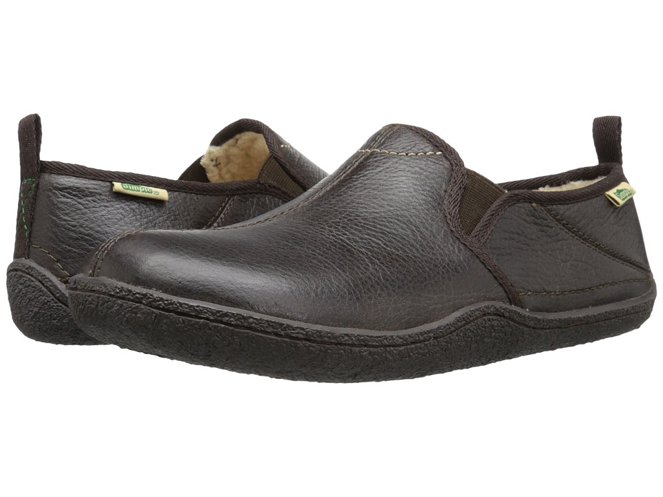 Simple - Rem (Dark Brown Tumbled Leather) Men's Slippers