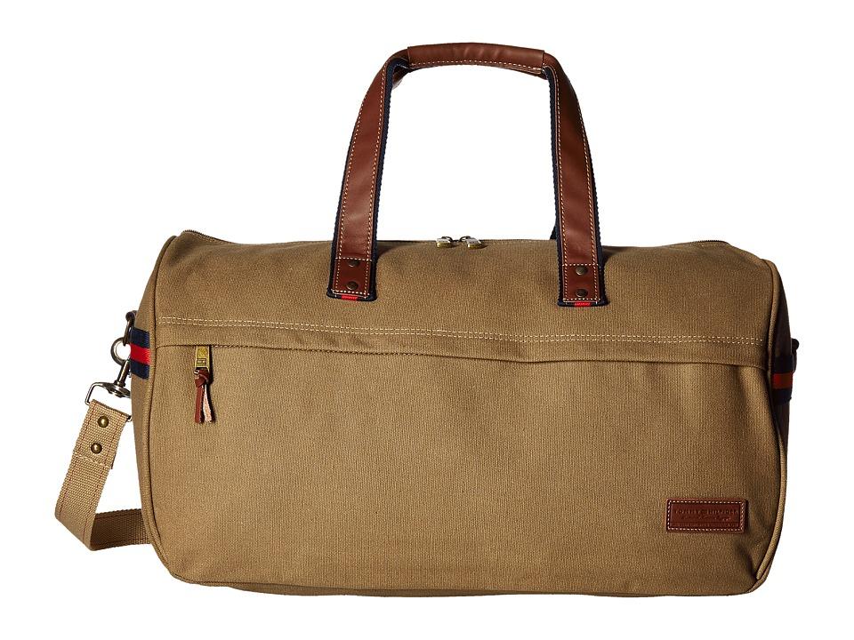 Tommy Hilfiger - Workhorse Canvas Duffel (Khaki) Duffel Bags