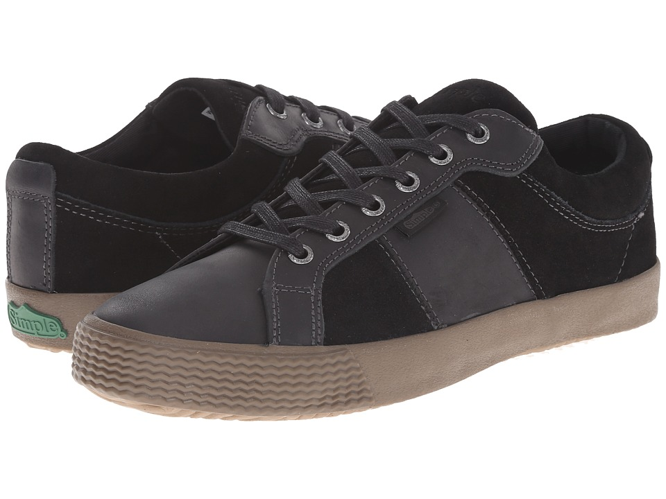 Simple - Waveoff (Black Leather) Men's Shoes