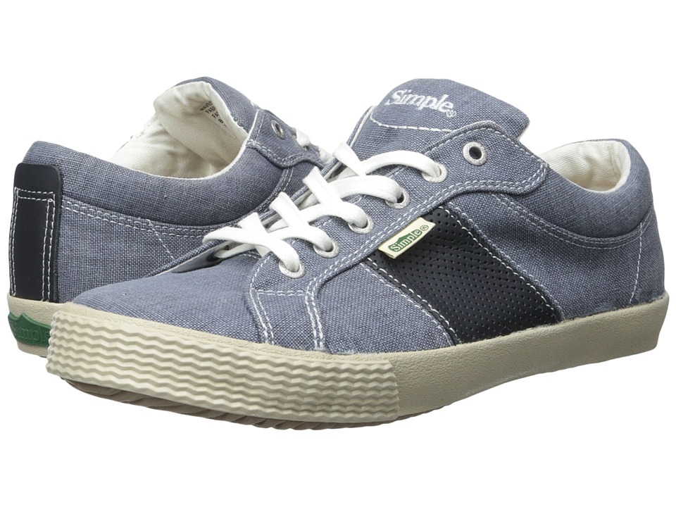 Simple - Waveoff 1 (Navy Waxy Milled/Linen) Men's Shoes