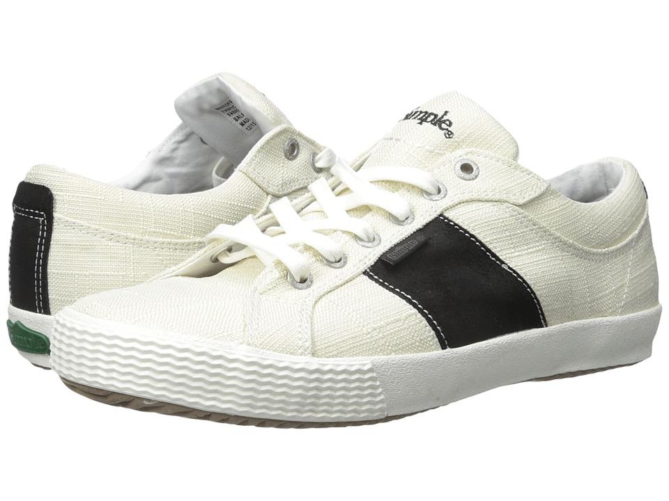 Simple - Waveoff 1 (Oatmeal Linen/Black) Men's Shoes
