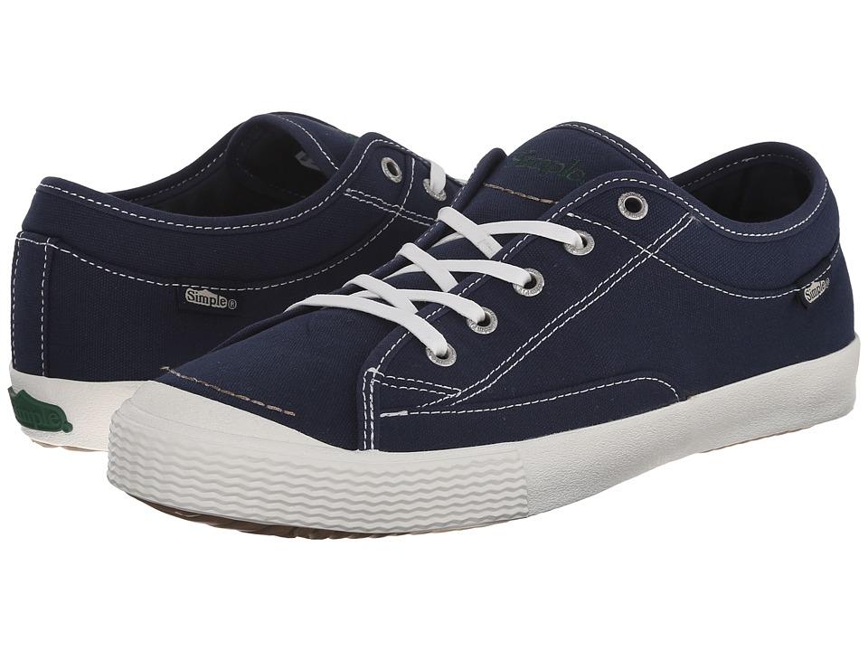 Simple - Wingman (Navy Canvas) Men's Shoes
