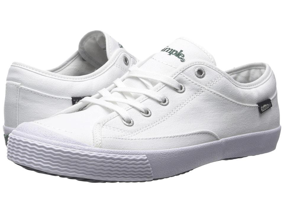 Simple - Wingman (White Canvas) Men's Shoes