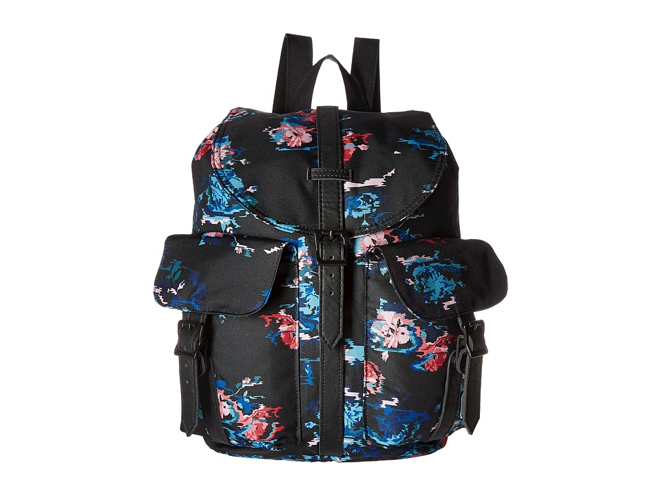 Herschel Supply Co. - Dawson (Floral Blur/Black Synthetic Leather) Bags