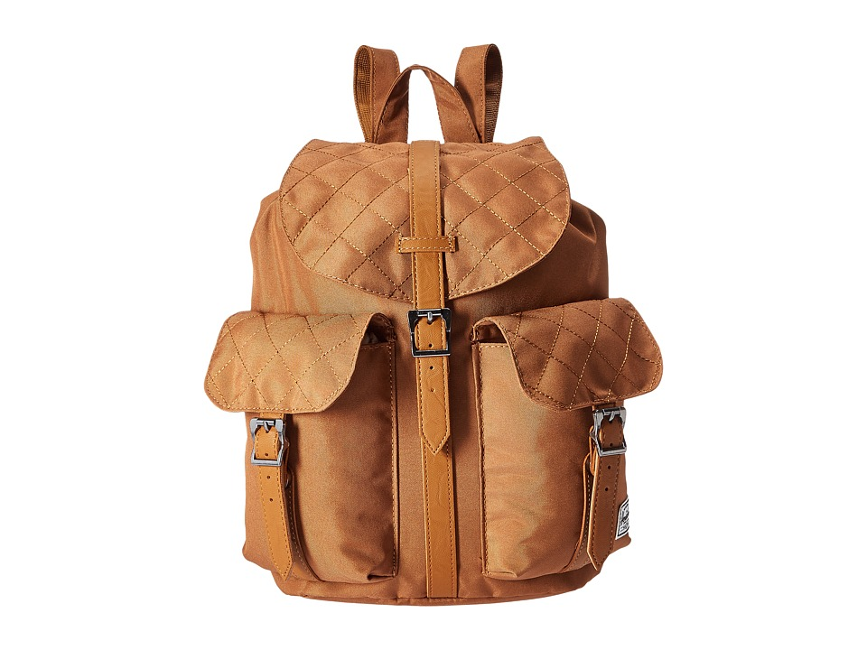 Herschel Supply Co. - Dawson (Caramel Quilted/Caramel Synthetic Leather) Bags