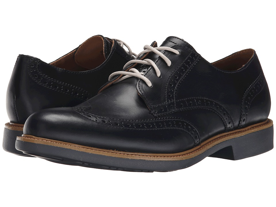 Cole Haan - Great Jones Wingtip (Black/Magnet) Men's Lace up casual Shoes