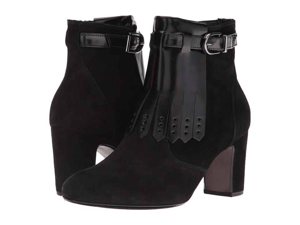 Gabor - Gabor 55.882 (Black Samt/Boxcalf) Women's Pull-on Boots