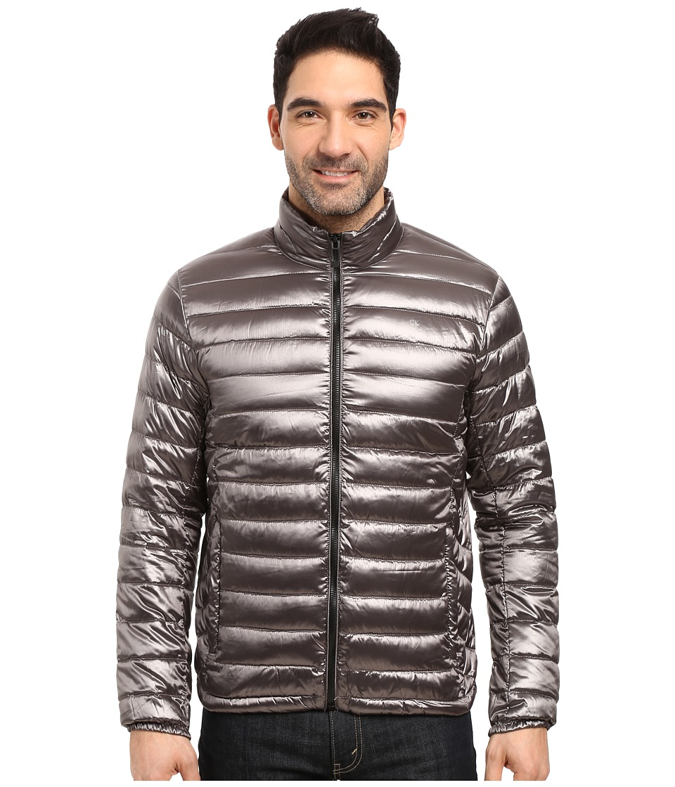 Calvin Klein - Packable Down Jacket (Granite) Men's Coat