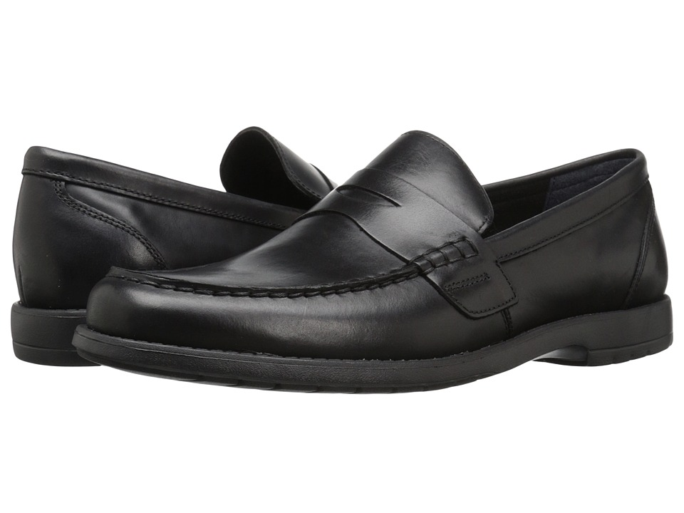 Nunn Bush Appleton Moc Toe Penny Loafer (Black) Men