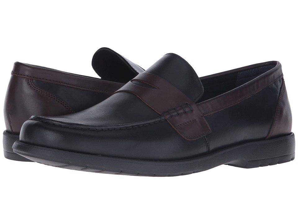 Nunn Bush - Appleton Moc Toe Penny Loafer (Black/Brown) Men's Slip-on Dress Shoes