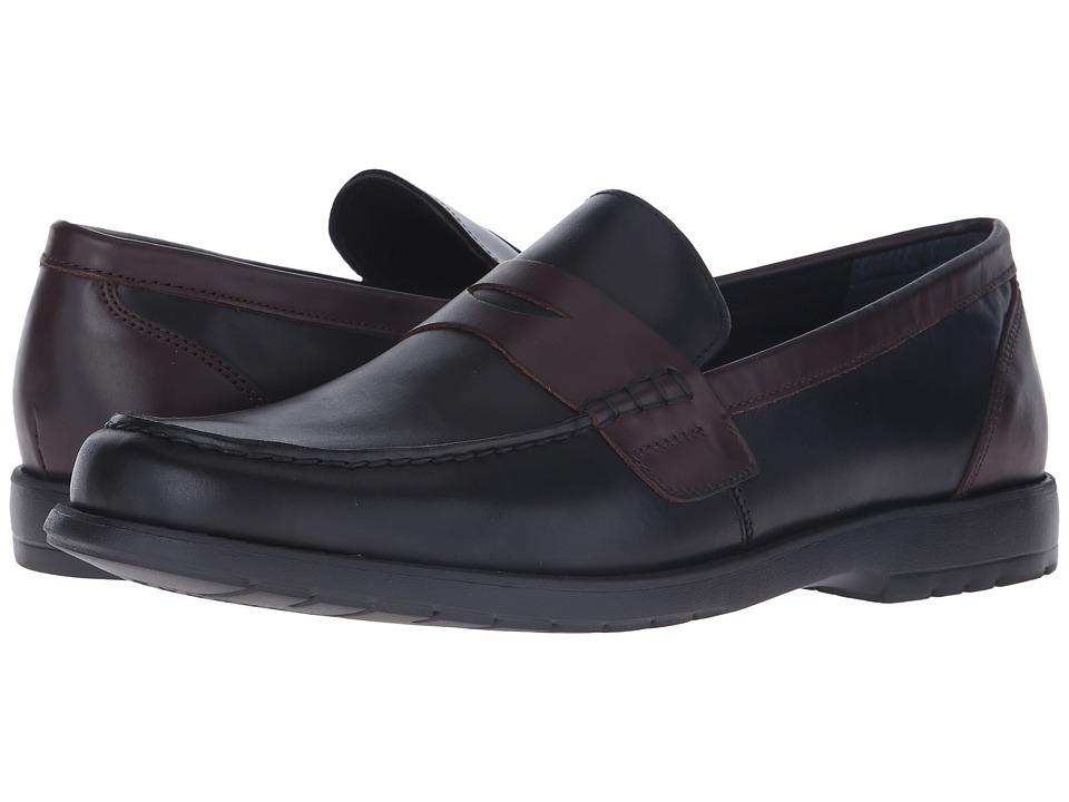 Nunn Bush - Appleton Moc Toe Penny Loafer (Black/Brown) Men's Slip-on Dress Shoes