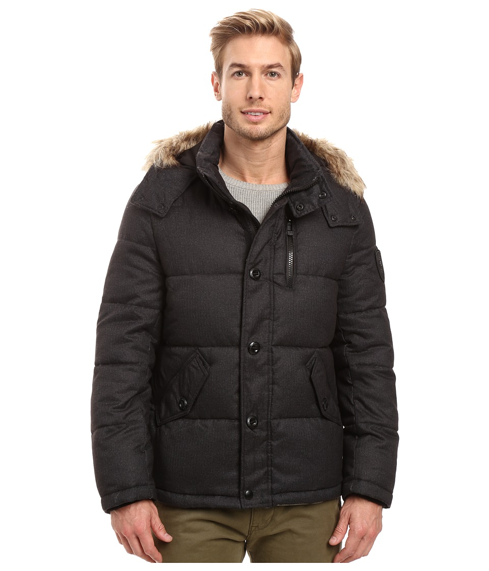 Calvin Klein - Arctic Puffer (Black Melange) Men's Coat