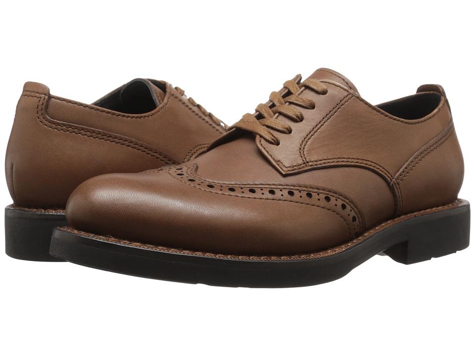 COACH - Bleecker Wingtip Derby (Dark Saddle) Men's Shoes