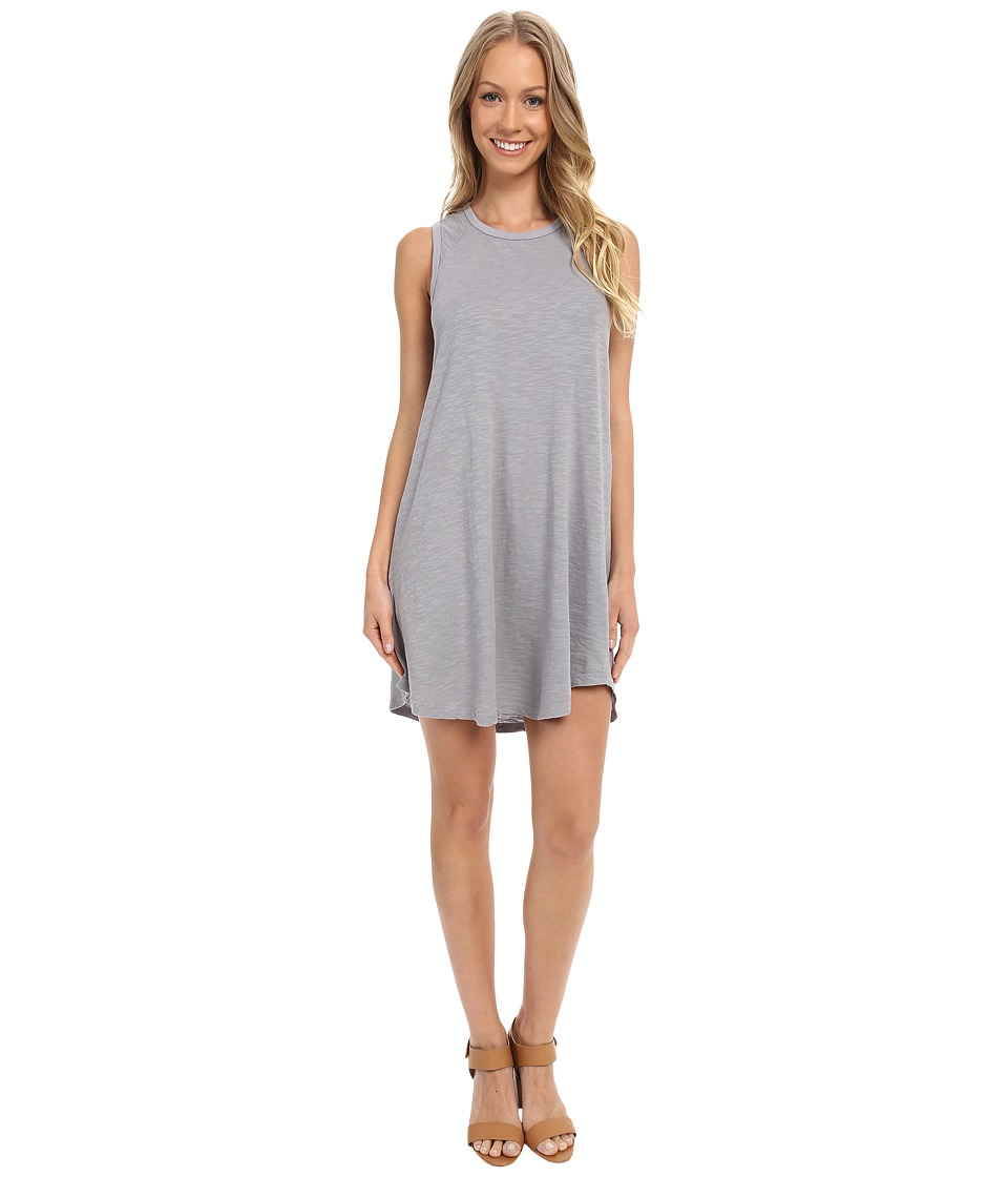 Allen Allen Raglan Tank Dress (Pale Grey) Women
