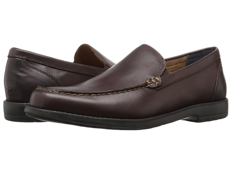 Nunn Bush - Arlington Heights Moc Toe Venetian (Brown) Men's Slip-on Dress Shoes