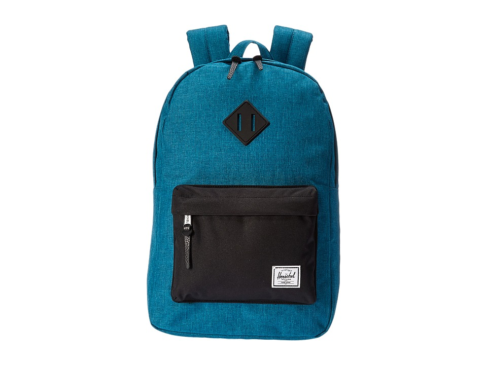 Herschel Supply Co. - Heritage Mid-Volume (Petrol Crosshatch/Black/Black Rubber) Backpack Bags