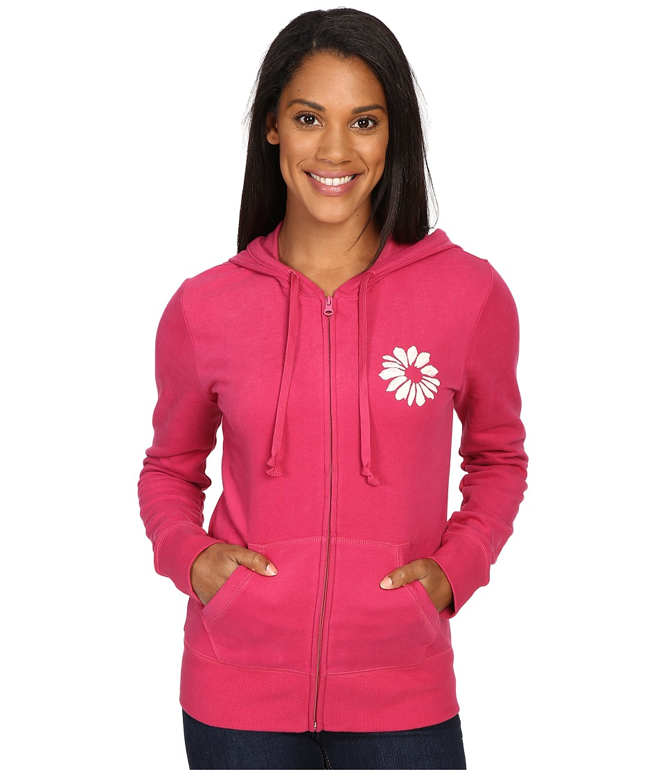 Life is good - Keep It Simple Daisy Go-To Zip Hoodie (Rose Berry) Women's Sweatshirt