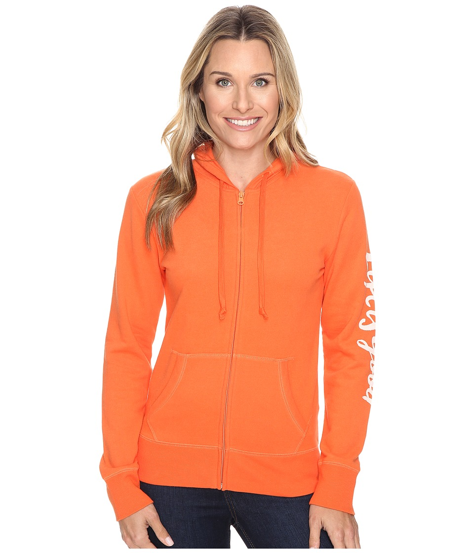 Life is good - Life is Good Painted Go-To Zip Hoodie (Coral Orange) Women's Sweatshirt