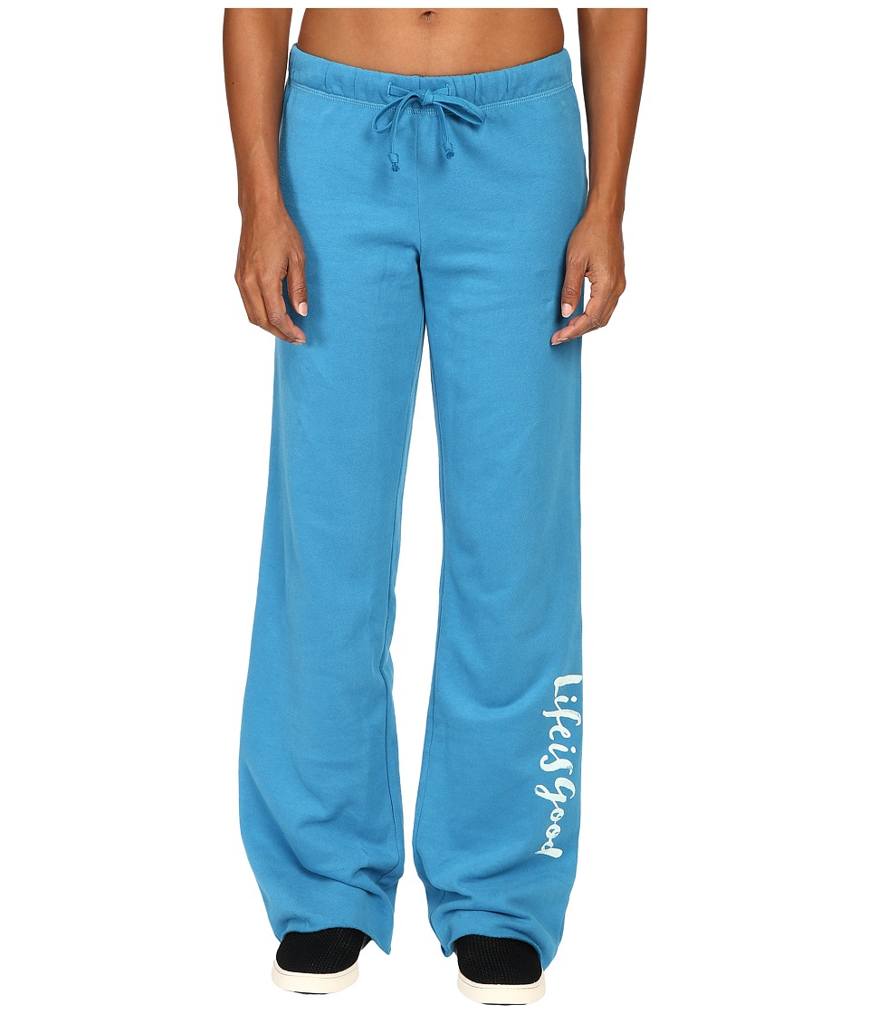 Life is Good - Life is Good(r) Script Fleece Lounge Pants (Denim Blue) Women's Fleece