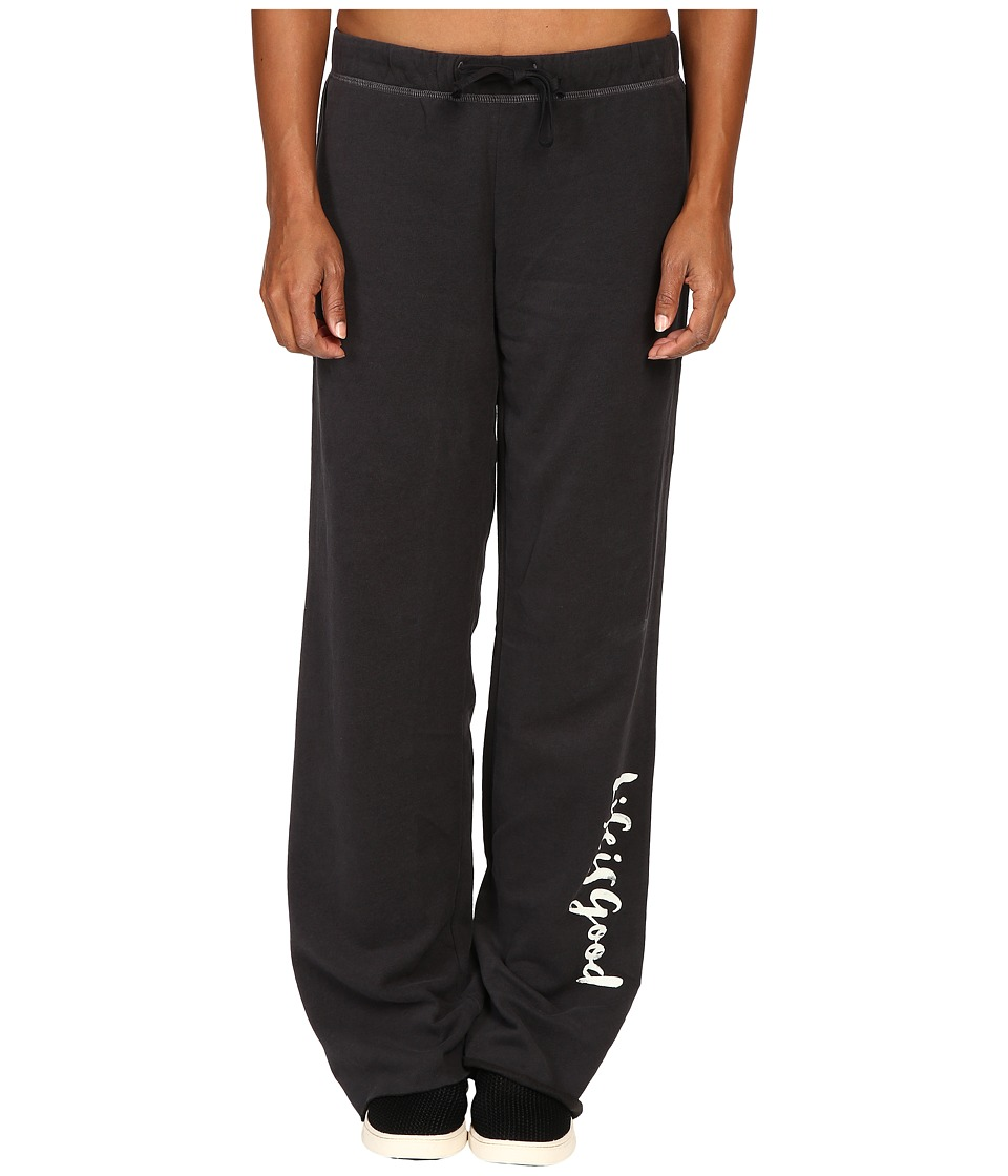 Life is good - Life is Good Script Fleece Lounge Pants (Night Black) Women's Fleece