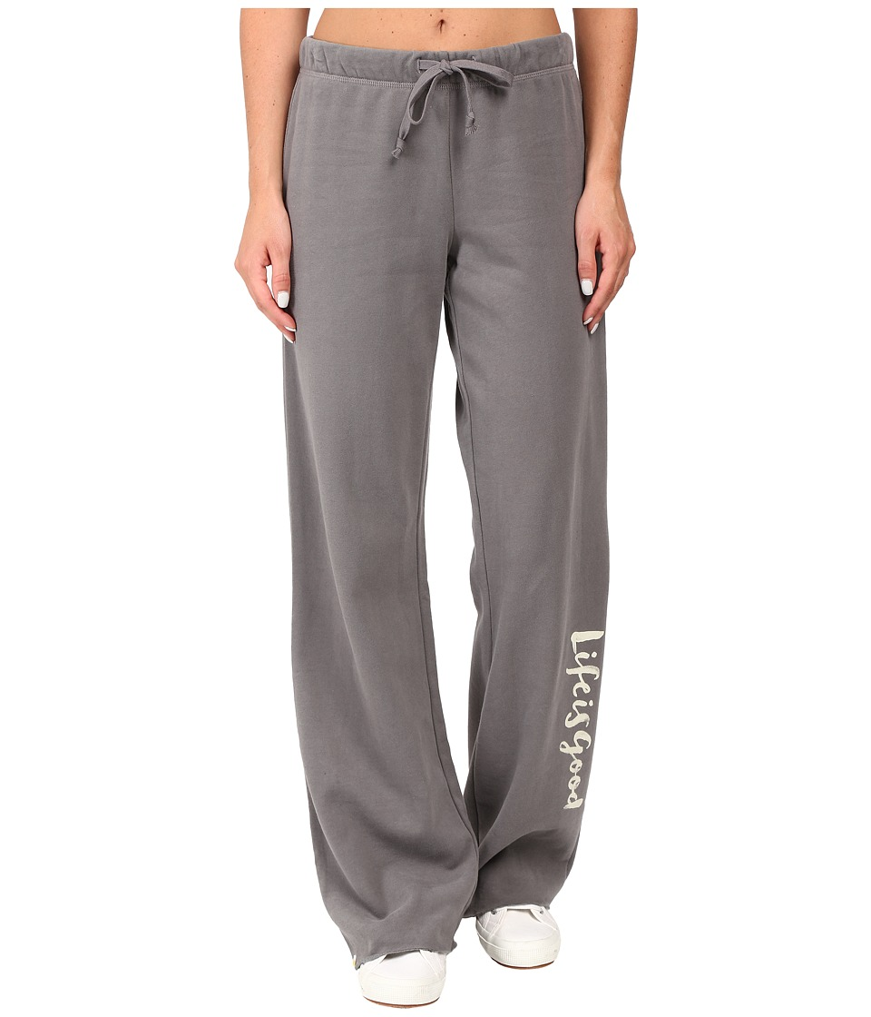 Life is good - Life is Good Script Fleece Lounge Pants (Slate Gray) Women's Fleece