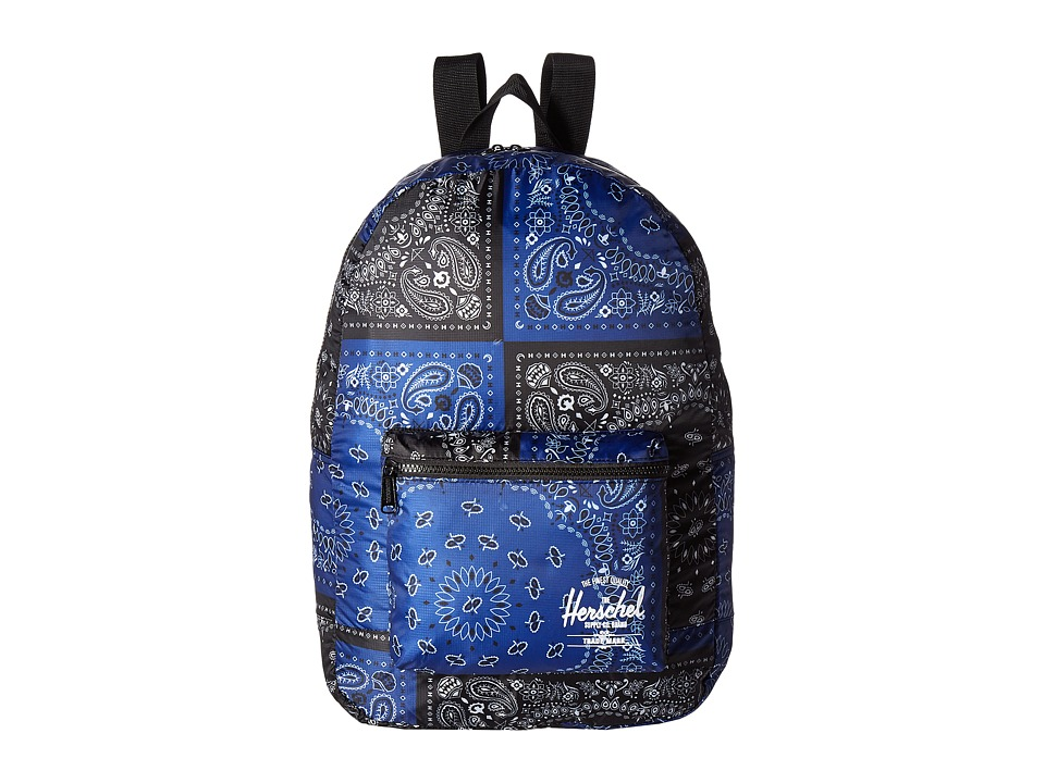 Herschel Supply Co. - Packable Daypack (Navy/Black Bandana) Backpack Bags