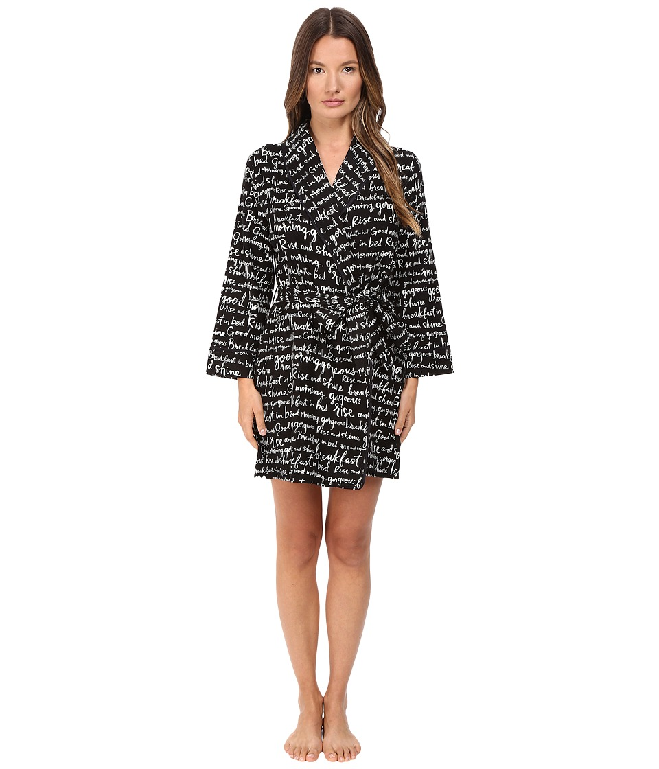 Kate Spade New York - Flannel Robe (Good Morning Gorgeous) Women's Robe