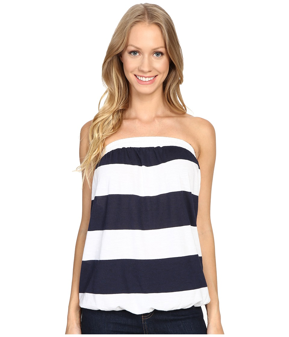Allen Allen - Stripe Tube Top (White) Women's Clothing
