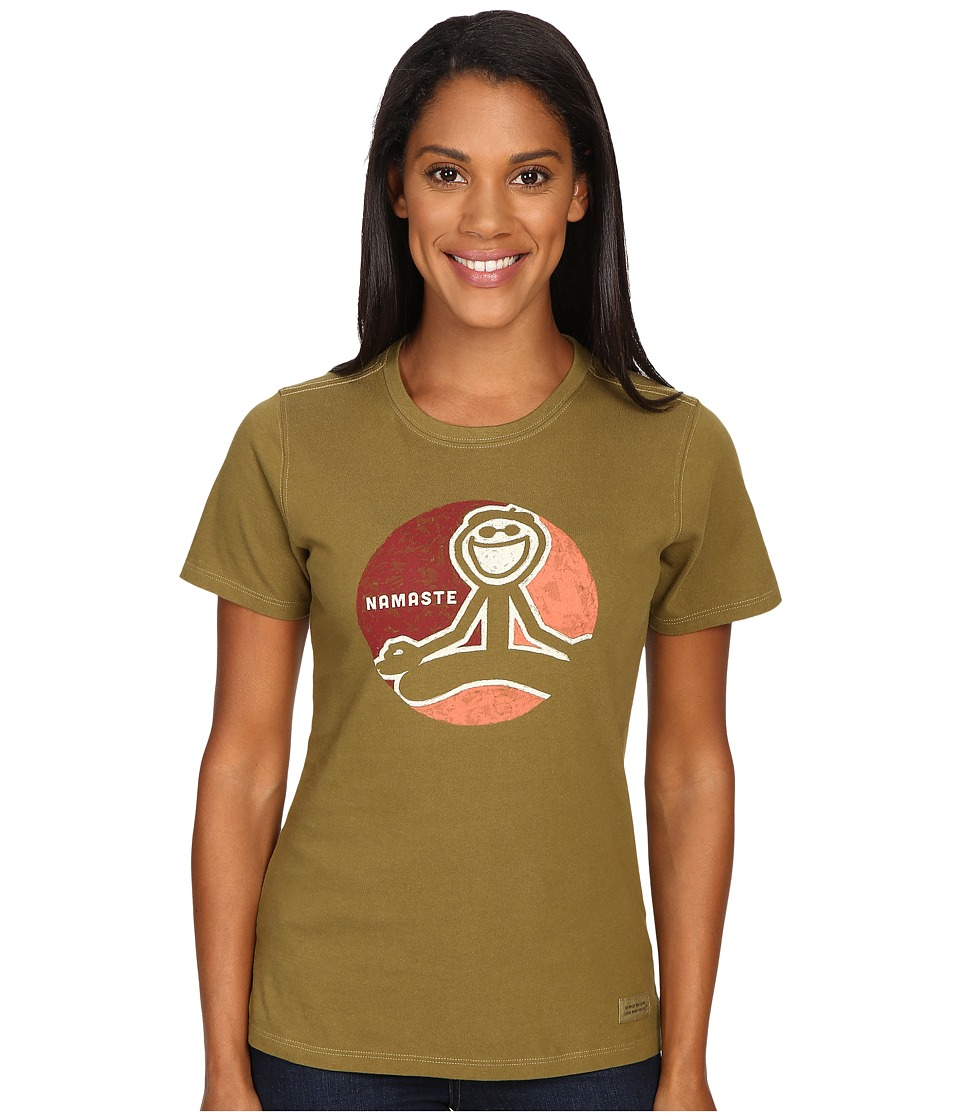 Life is Good Jake Namaste Crusher Tee (Woodland Green) Women