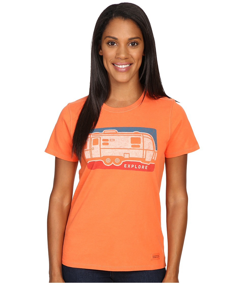Life is good - Explore Airstream Crusher Tee (Coral Orange) Women's T Shirt