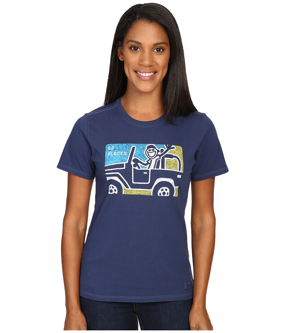 Life is good Go Places 4x4 Crusher Tee (Darkest Blue) Women