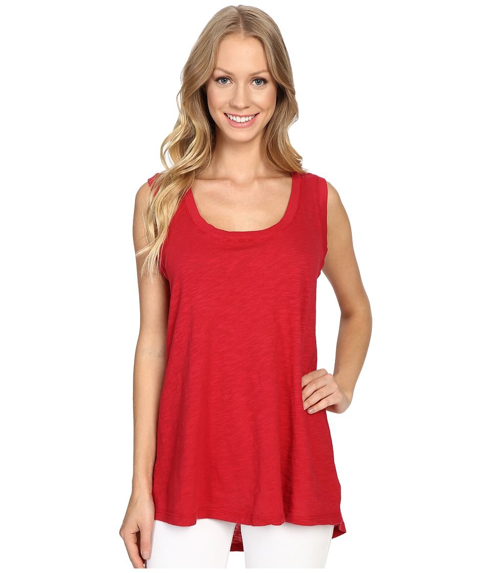 Allen Allen - Hi-Low Tank Top (Red) Women's Sleeveless