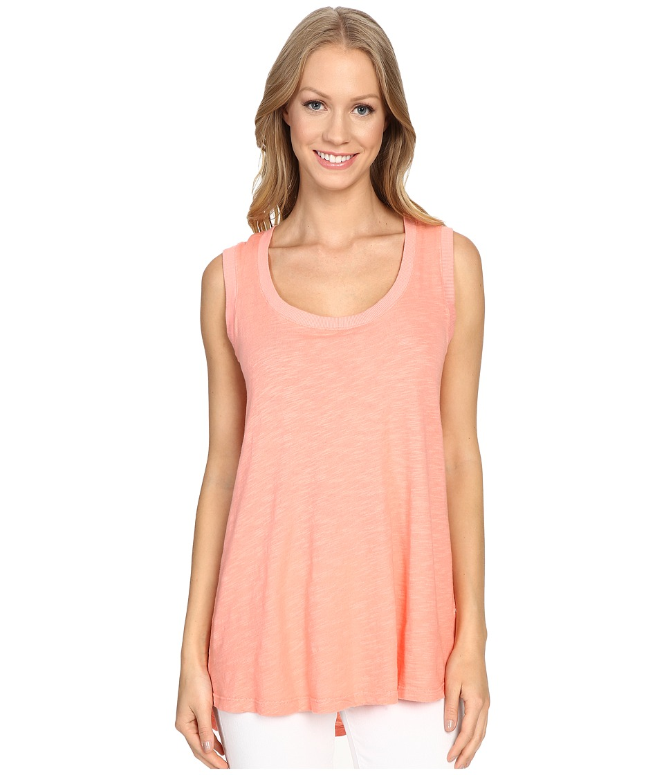 Allen Allen - Hi-Low Tank Top (Peach Amber) Women's Sleeveless