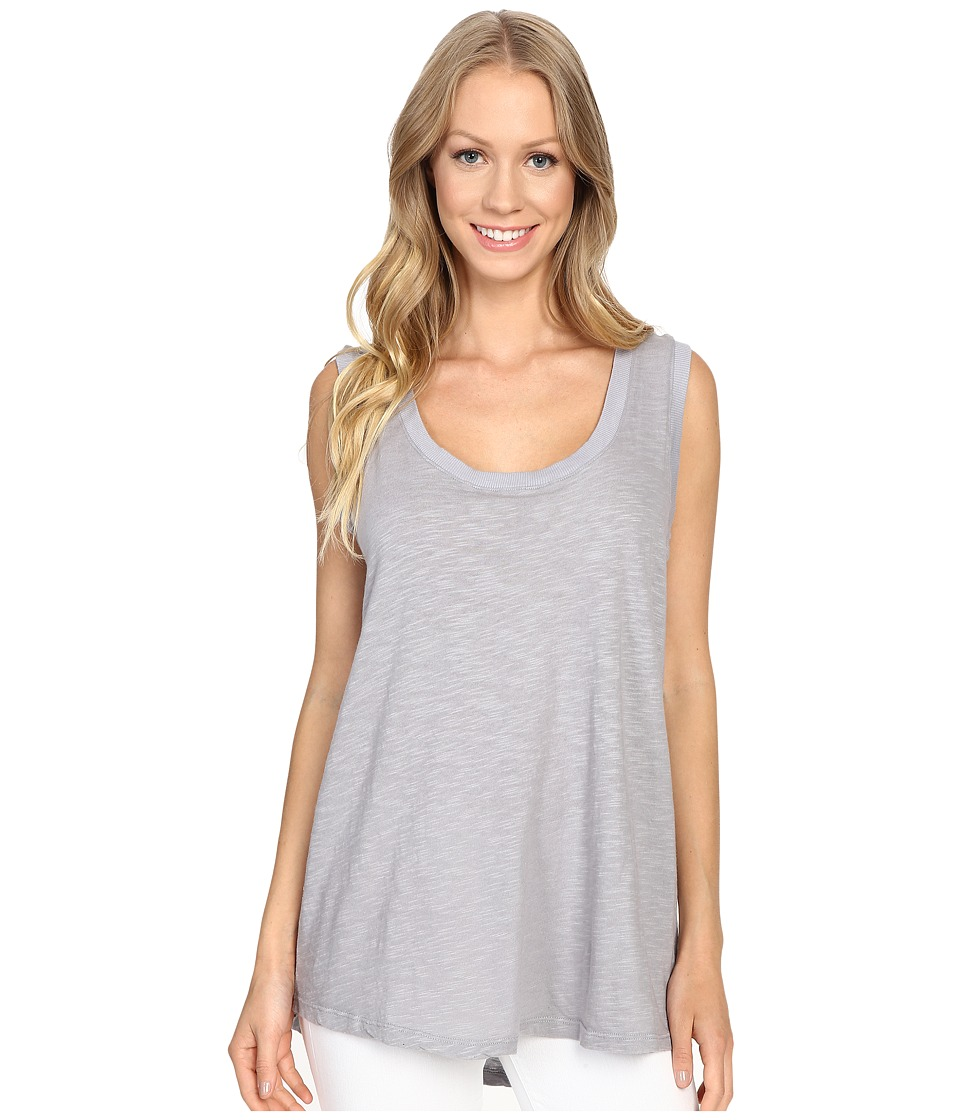 Allen Allen - Hi-Low Tank Top (Pale Grey) Women's Sleeveless