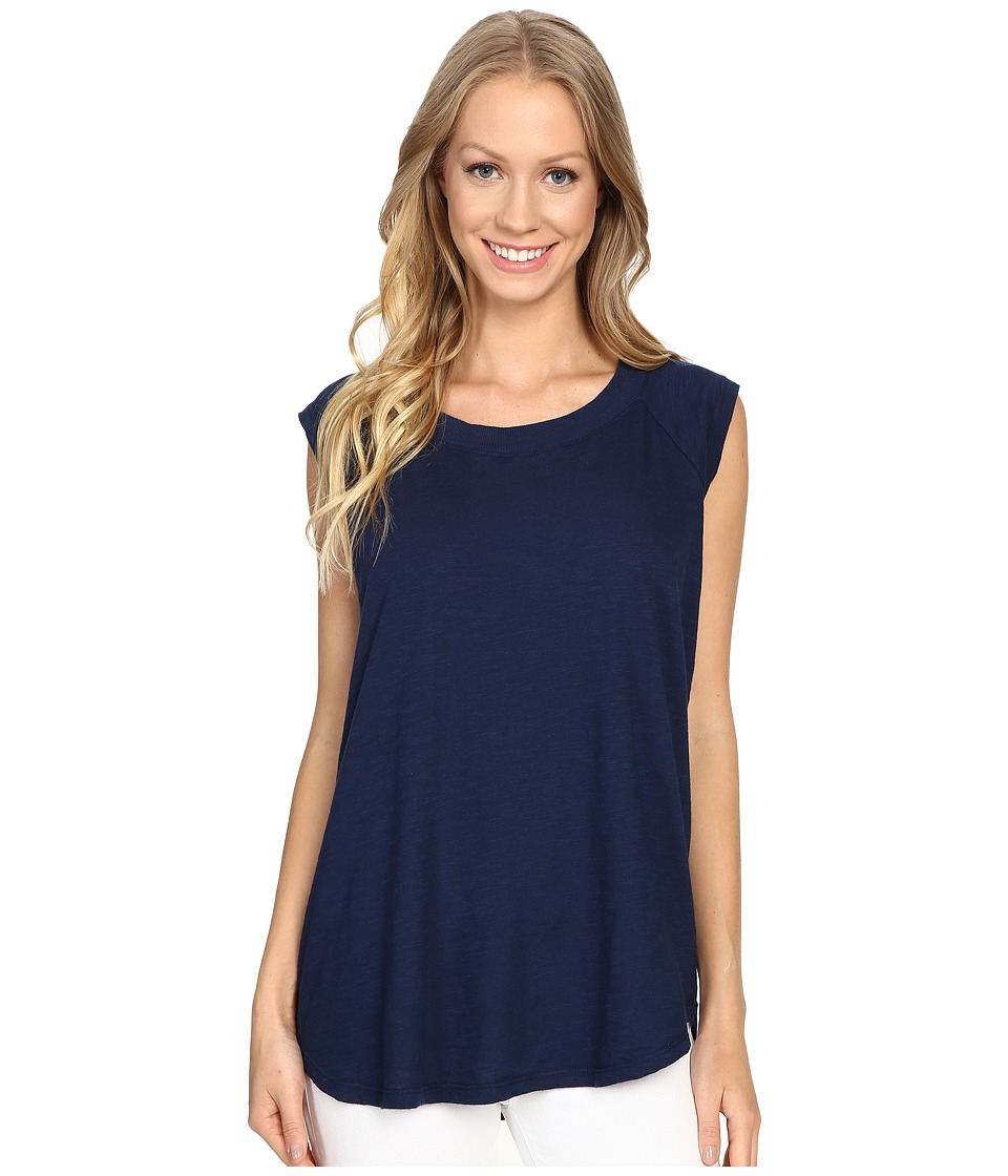 Allen Allen - Raglan Sleeveless Tee (Lapis) Women's Sleeveless