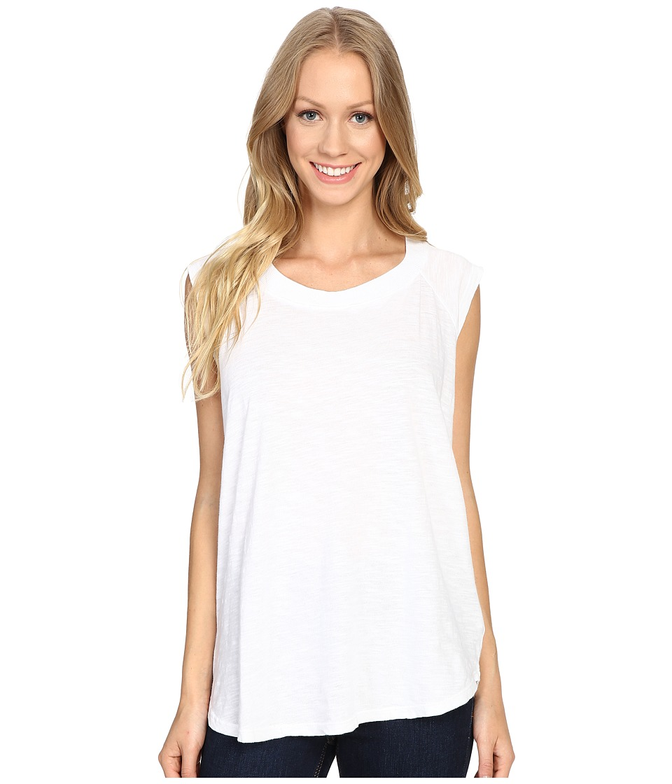 Allen Allen - Raglan Sleeveless Tee (White) Women's Sleeveless
