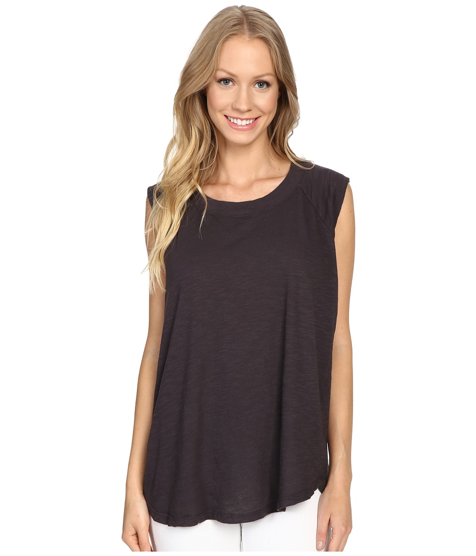 Allen Allen - Raglan Sleeveless Tee (Jet Grey) Women's Sleeveless