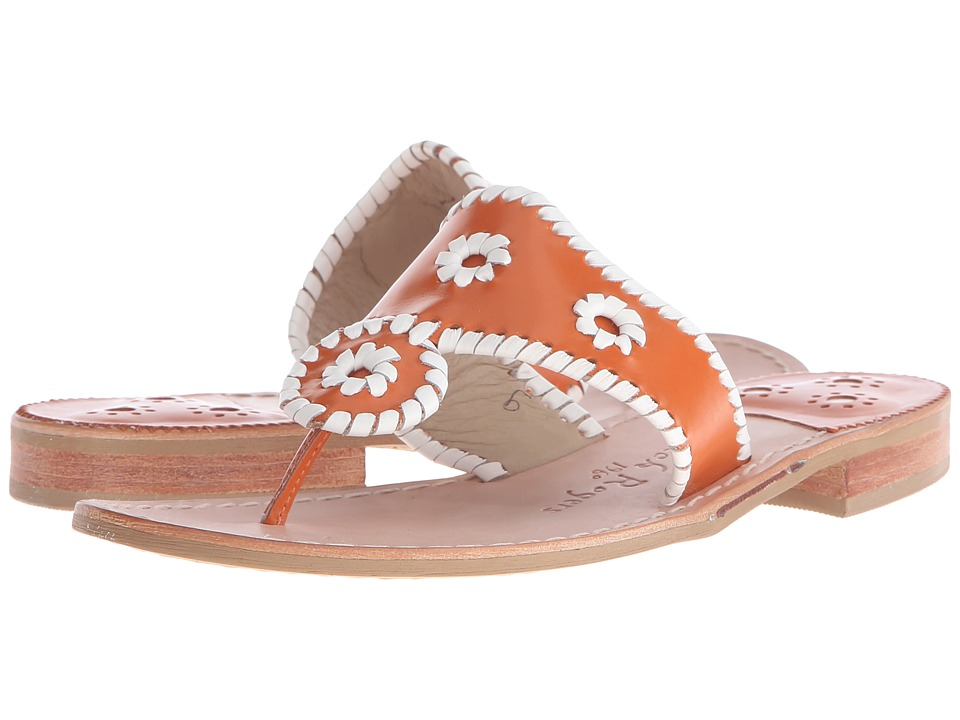 Jack Rogers - Spirit (Orange/White) Women's Shoes