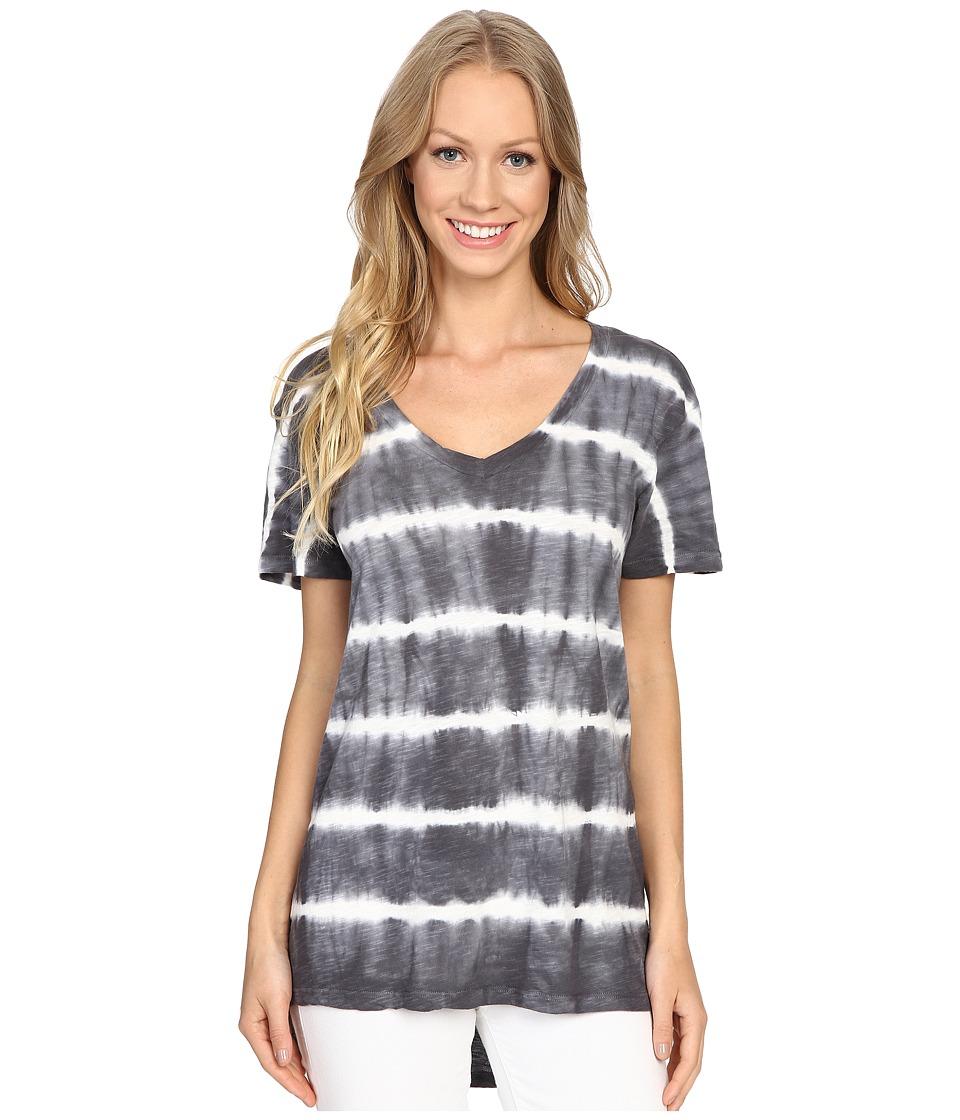 Allen Allen - Tie-Dye Tee (Flint) Women's Short Sleeve Pullover