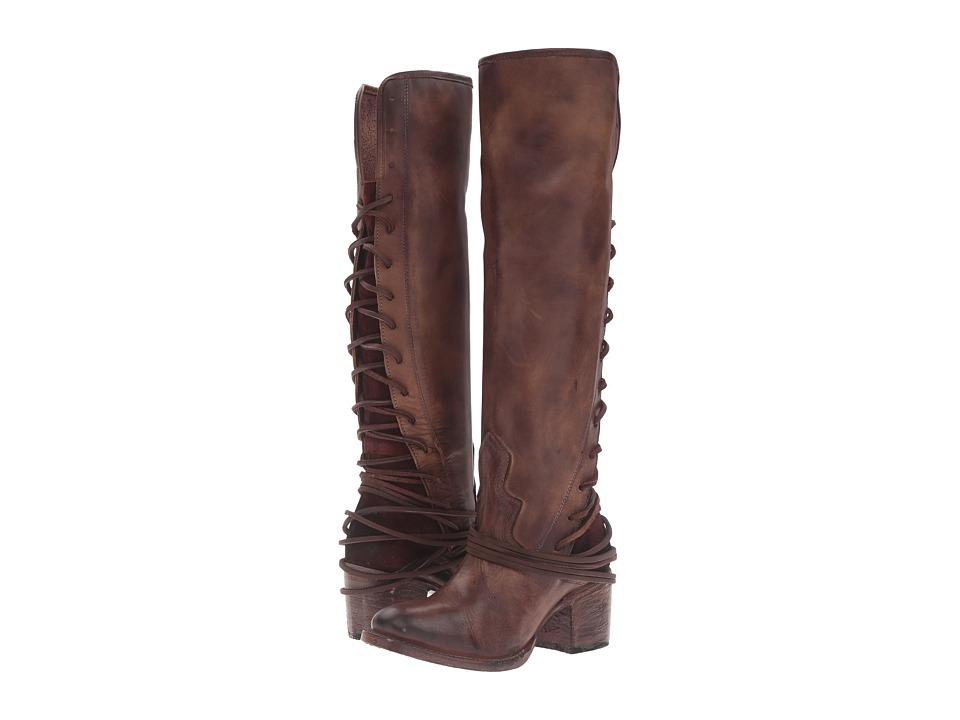 Freebird Coal (Plum Leather) Cowboy Boots