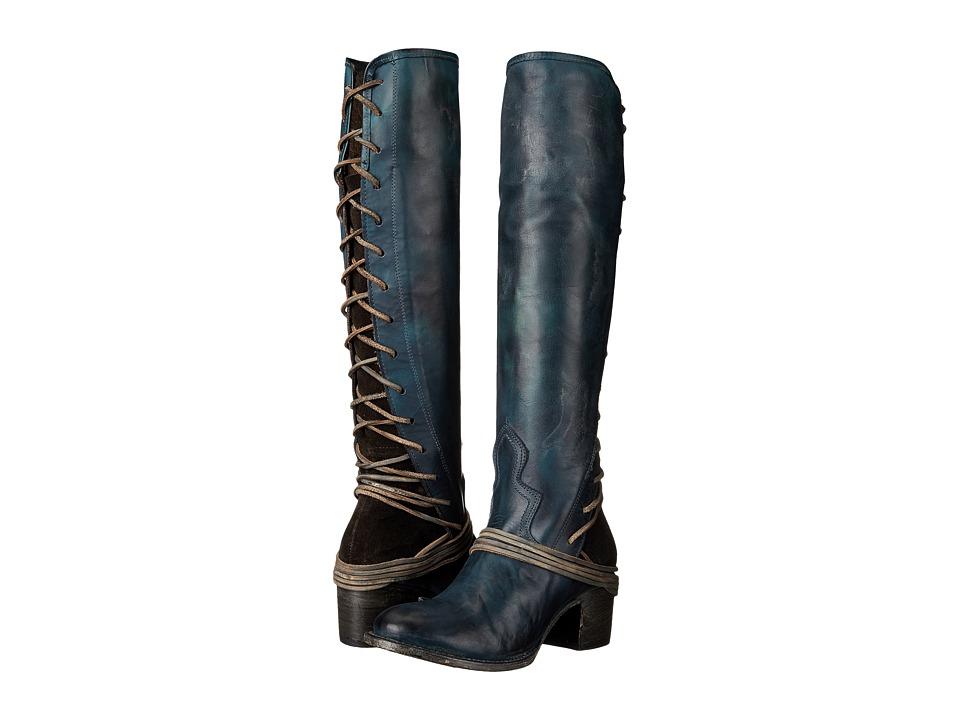 Freebird - Coal (Navy Leather) Cowboy Boots
