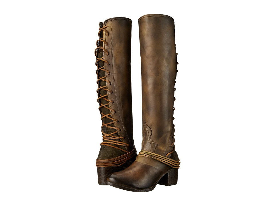 Freebird Coal (Olive Leather) Cowboy Boots