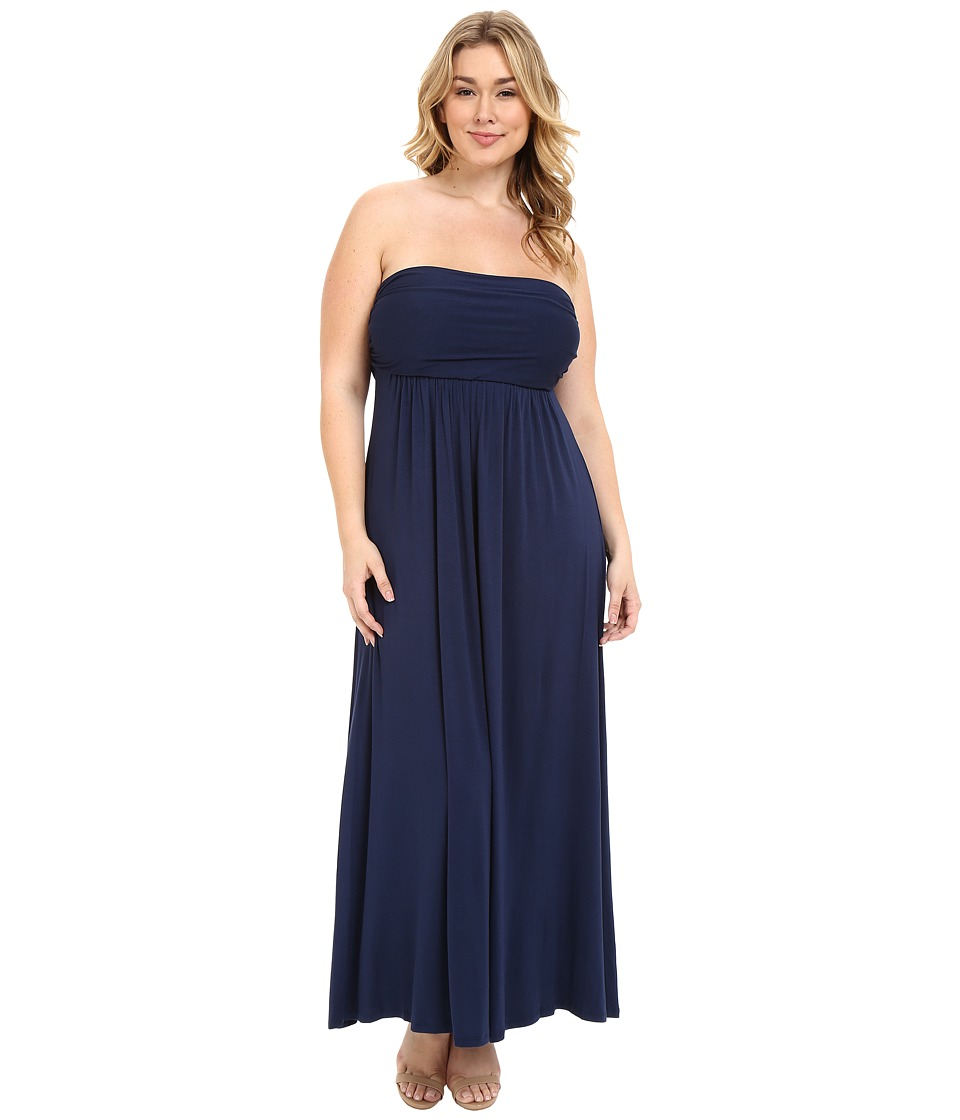 Culture Phit Plus Size Hally Dress (Navy) Women