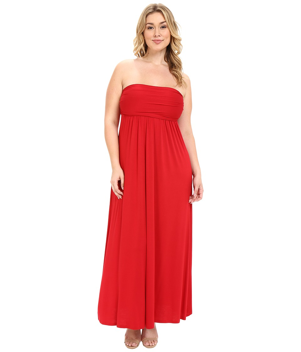 Culture Phit Plus Size Hally Dress (Red) Women