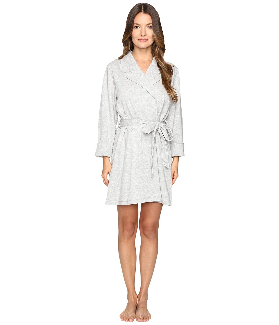 Kate Spade New York - Brushed French Terry Robe (Grey Heather Eat Cake For Breakfast) Women's Robe